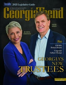 Georgia Trend February 2021 Cover David Abney Juanita Baranco
