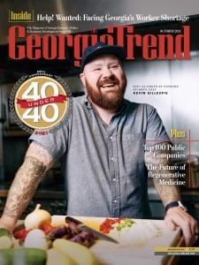 Georgia Trend October 2021 40 Under 40 Kevin Gillespe Cover