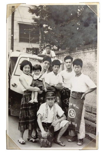 Uki left his family in Japan, at right, to come to Honolulu, where he produced his first ramen in 1982.