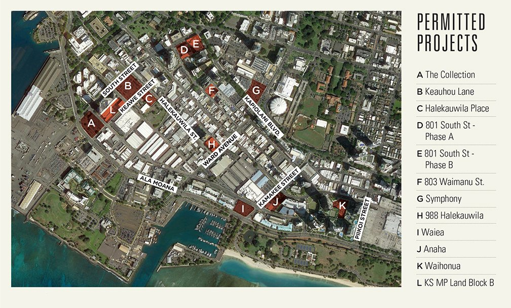Permitted Projects: The Collection, Keauhou Lane, Halekauwila Place, 801 South St. - Phase A,
