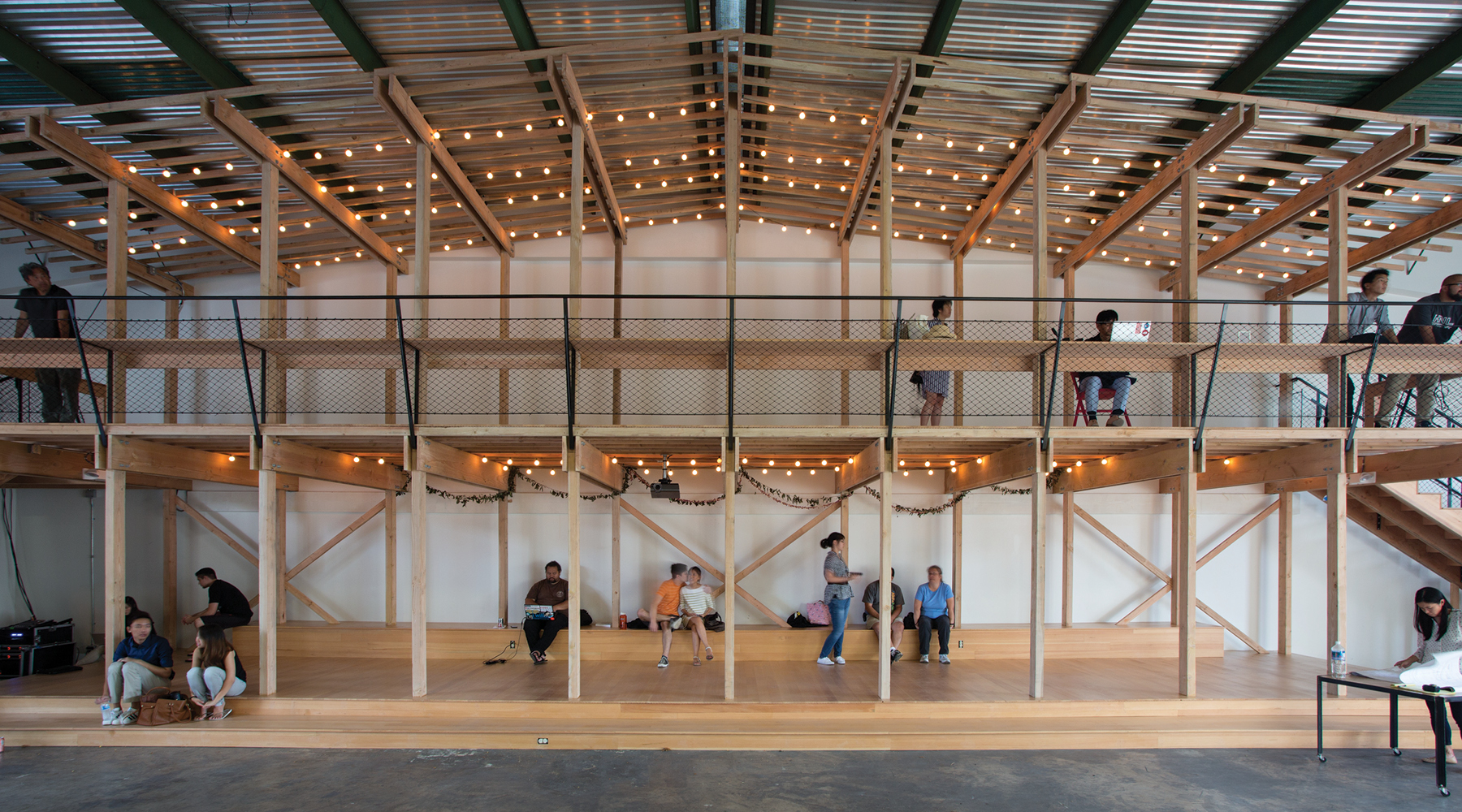 Kakaako Agora, which opened in June on Cooke Street, is called an indoor park. Photo: Mariko Reed