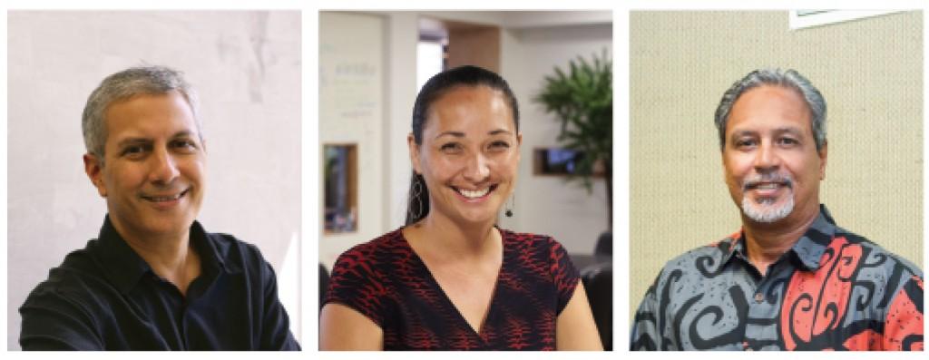 Independent but like-minded consultants on development: from left, Kevin Cockett, Malia Kaaihue and Guy Kaulukukui. Photos: Mark Arbeit. Photo of Kaulukukui: Odeelo Dayondon.