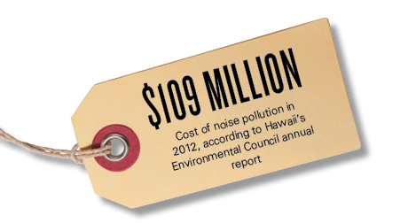 $109 million: Cost of noise pollution in 2012, according to Hawaii's Environmental Council annual report
