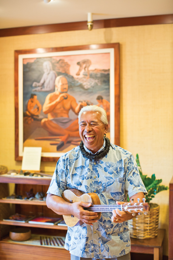 """Uncle"" Earl Kamakaonaona Regidor is the manager of the Kaupulehu Cultural Center at the Four Seasons Resort Hualalai. Photo: Joshua Fletcher"