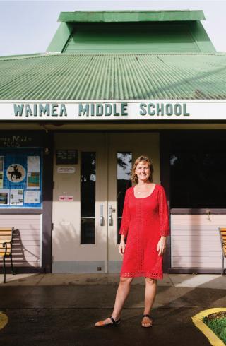 Waimea Middle Public Conversion Charter School principal Amy Kendziorski. Photo: Megan Spelman