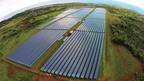 "When KIUC's $50 million, 12 megawatt solar farm in Anahola comes on line later this year, it will be the largest in Hawaii. ""I think we added an extra panel so it would be larger than our Koloa Mill project,"" jokes CEO David Bissell. Photo: Courtesy of KIUC"