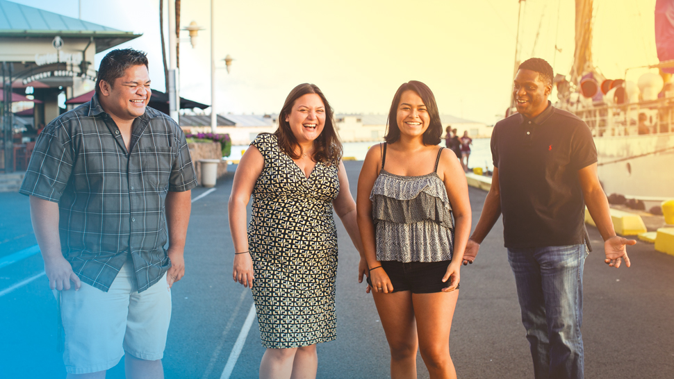 These four Dreamers have a short-term reprieve from deportation, thanks to an executive order from President Obama. But their long-term immigration status is uncertain. From left, Mahe Vakauta, Gabriela Andrade, Vanesa Garcia and Shingai Masiya.. Photo: Sean Marrs
