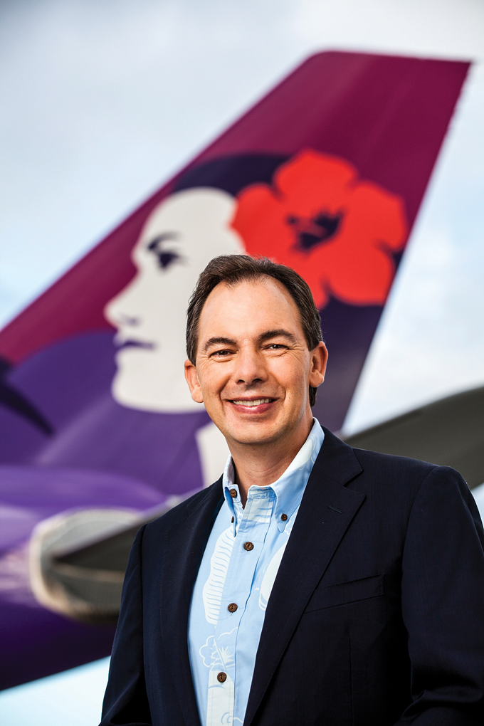 Mark Dunkerley has led Hawaiian Airlines on an Asia-Pacific expansion that uses Hawaii as a superconnector hub – making good on the longtime idea that the Islands are the Crossroads of the Pacific. Photo: Olivier Koning