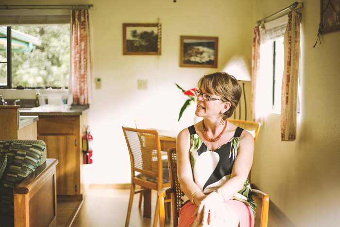 Petra Wiesenbauer, owner of the Hale Moana Bed and Breakfast, says surviving the one-two punch of Iselle and lava made her more resilient. Photo: Ciara Enriquez