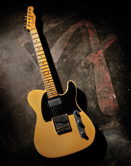 This limited-edition guitar is handmade and modeled after the 1952 Telecaster. List price: $6,590. Photo courtesy of Fender Musical Instruments Corp.