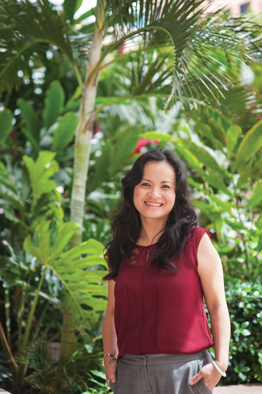 """It's important to maintain the passion that first drew you to STEM, says Phuong-Thao Nguyen of Hawaiian Telcom. """"Passion is your sense of curiosity, your desire to understand why, your curiosity to learn more. When you have that, you won't think of what you're doing as work. When you have that, you'll overcome your fears."""" Photo: Elyse Butler"""