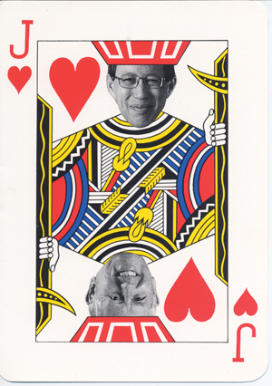 """When First Hawaiian Bank lured Jack Tsui from Bank of Hawaii to succeed Jack Hoag, this """"Jacks"""" card was part of an invitation to a changing-of-the-guard event. Photo: Courtesy of Walter Dods Jr."""