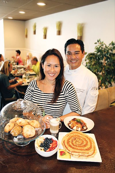 Nicole and Eric Chang intended to serve the local community when they opened Moena Cafe at the Koko Marina Center. But tourists discovered the cafe and thousands come each month to Hawaii Kai to enjoy breakfasts that feature kalua pig eggs Benedict, sweet broad French toast and other specialties. Photo: Courtesy of Moena Cafe