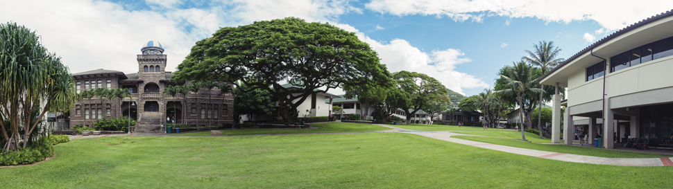 Pauahi Hall, left, was finished in 1896 and is one of the oldest buildings on the Punahou campus. Photo: Shane Grace