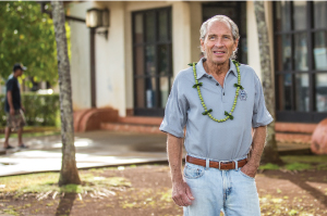"""""""Investments and economic growth way out at the perimeter of the town core in the last 40 years kind of pulled the life out of the center of the town,"""" says Palmer Hafdahl, Architect and VP of the Lihue Business Association. Photo by Brian Finch."""