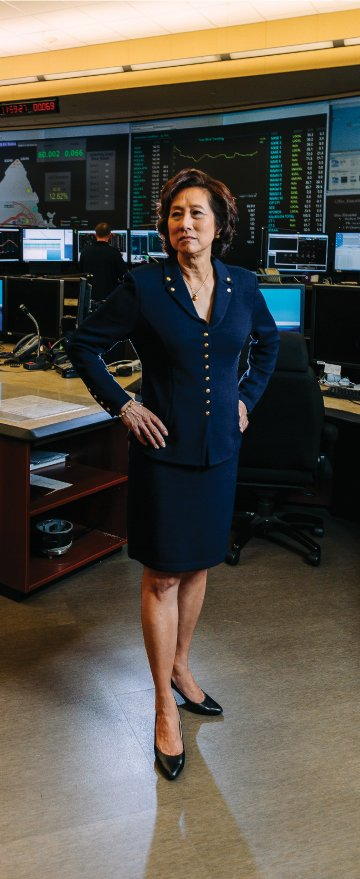 Connie Lau, CEO of Hawaiian Electric Industries, says that despite Hawaii's small size and its relative isolation, it is a major target for global hackers because of the strong presence of the U.S. military in the Islands. Photo: Aaron K. Yoshino