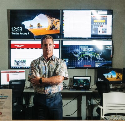 Before teaching IT and cyber security at UH West Oahu, Matthew Chapman headed the U.S. Army's Cyber Operations at Pacific Command. Photo: Aaron K. Yoshino