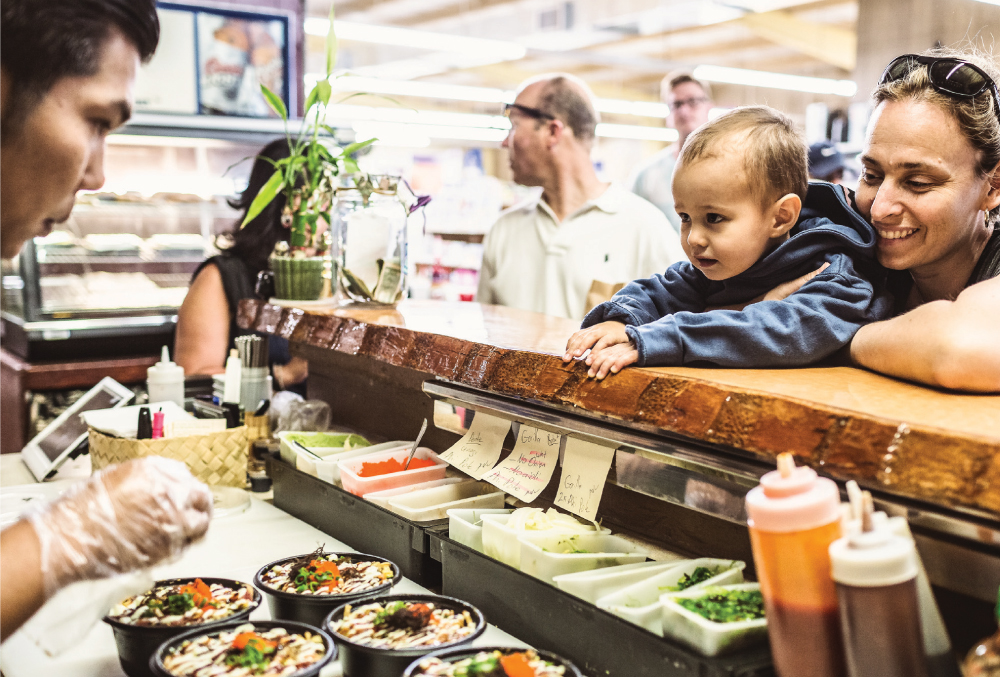 Makai Sushi is a leased store within Kukuiula Market that helps bring new customers to the longtime family business. Photo by Brian Finch.