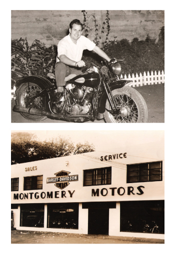 Al Montgomery Sr., top, founded the family business in 1946. He used his savings to buy the company's original location on Dillingham Boulevard, bottom. Photos courtesy of Montgomery Power Sports