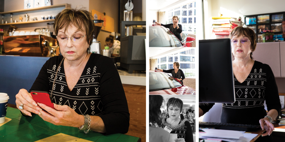 Judy Bishop receives hundreds of emails a day and sends about 200.
