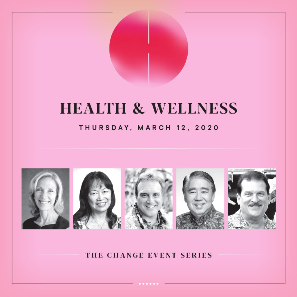 Register for the next CHANGE event on Health & Wellness