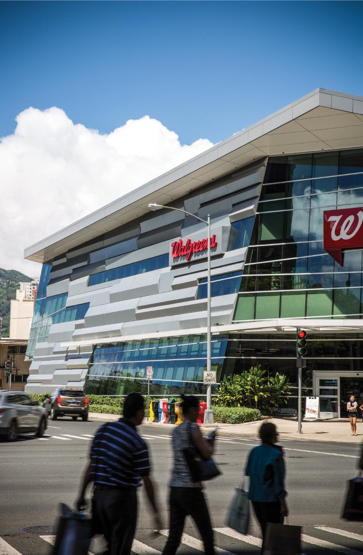 Bettina Mehnert's firm, Architects Hawaii, designed the new Walgreens store at Kapiolani Boulevard and Keeaumoku Street. Photo: David Croxford