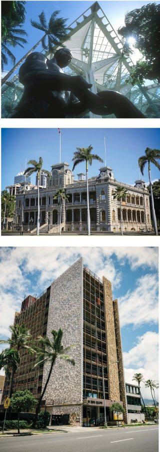 Our contest winners included: First Hawaiian Center; Hawaii Convention Center; Iolani Palace; and the Queen Emma building. PHOTOS: (TOP) DAVID CORNWELL. (MIDDLE) THINKSTOCK.COM. (BOTTOM) AARON K. YOSHINO