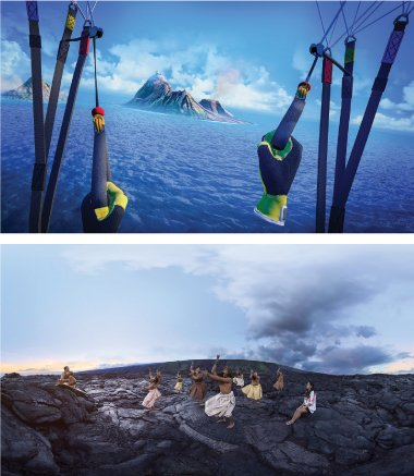 Screen shots of a VR video created for the Hawaii Tourism Authority. Photo courtesy of Hawaii Tourism Authority.