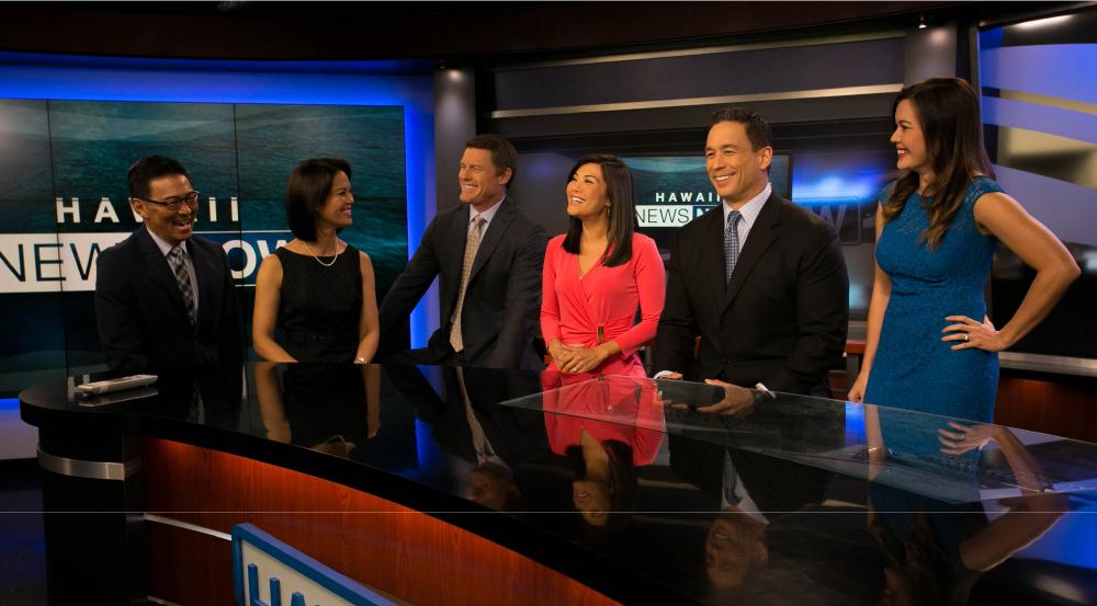 The Hawaii News Now Evening team. Photo courtesy of Hawaii News Now.