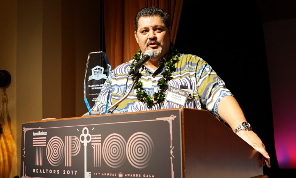 Walter Thoemmes receives the Developer of the Year Award for Kamehameha Schools.
