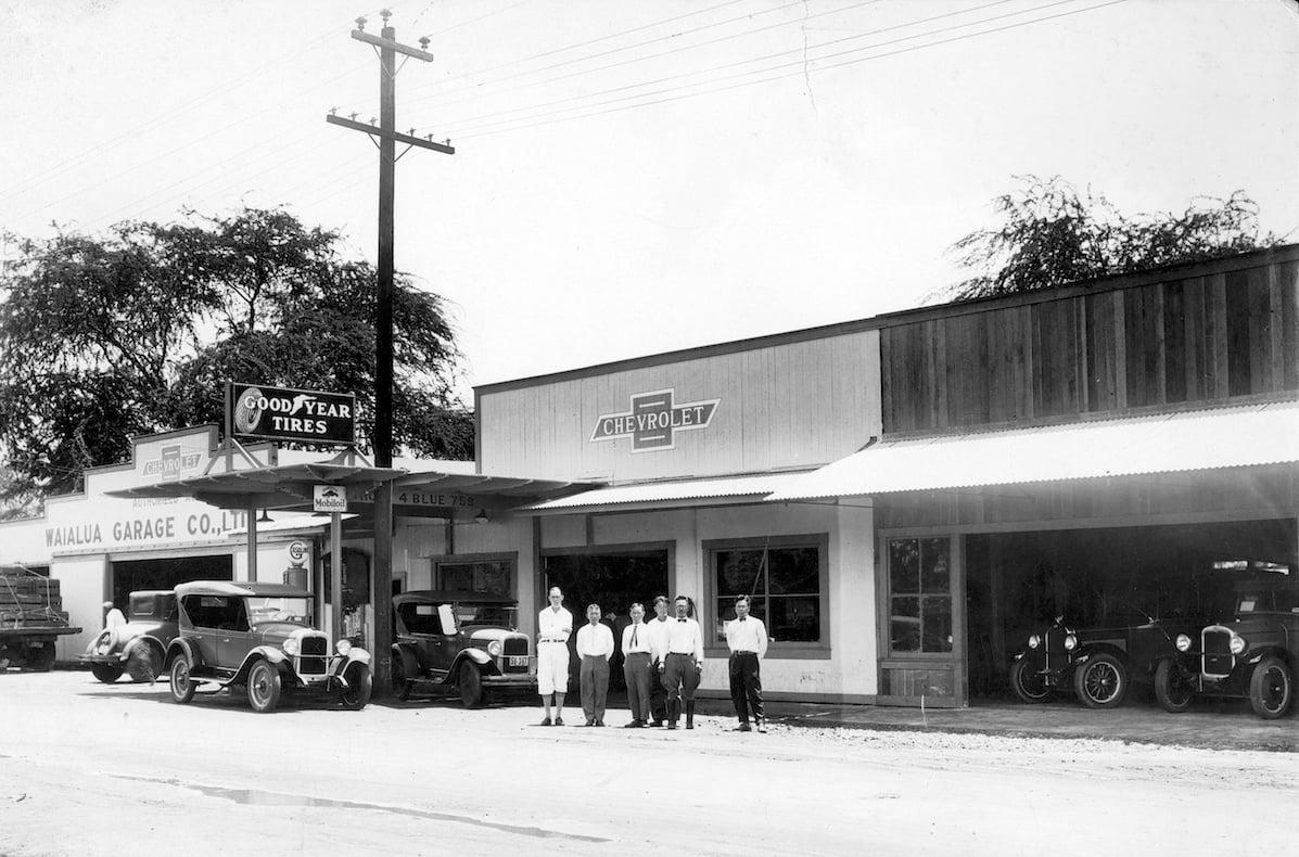 two car garage and chevrolet franchise, founder peter fukunaga