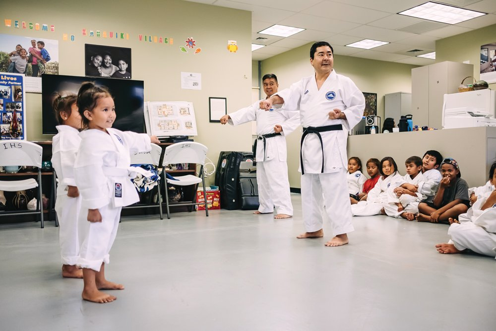ken miyasato founded a karate dojo at kahauiki village, photo by aaron yoshino
