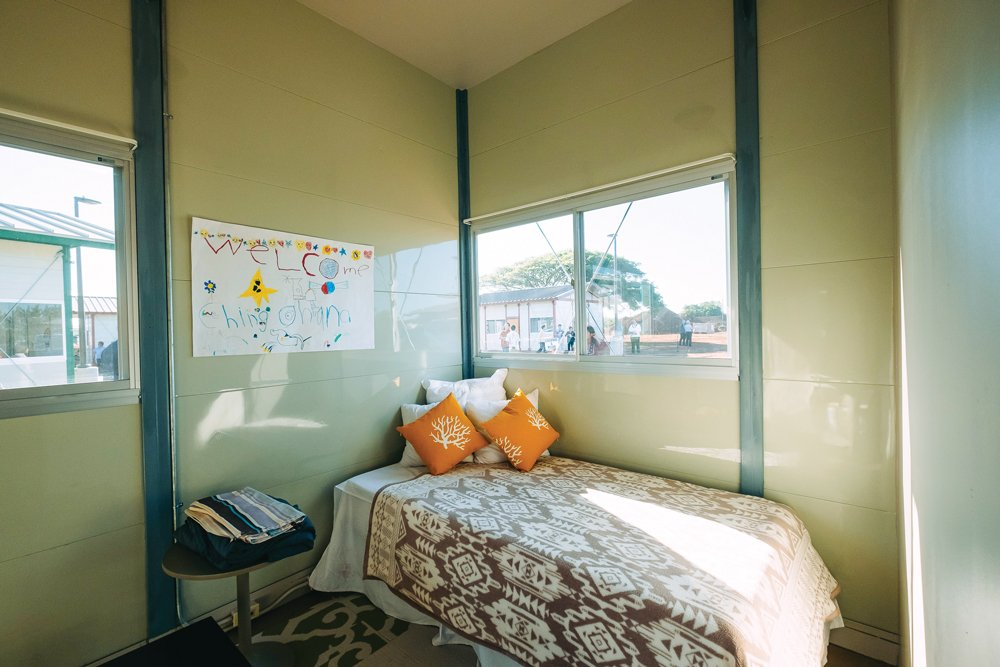 one bedroom in kahauiki home, photo by aaron yoshino