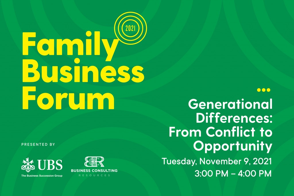 Generational Differences - Family Business in Hawaii, Family Business Forum, November 9, 2021
