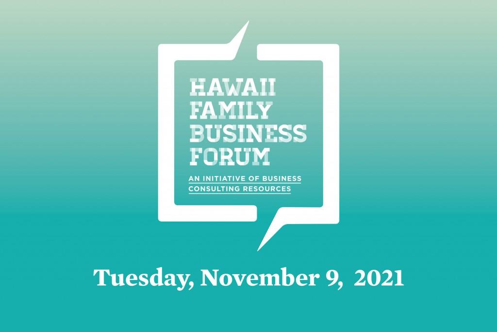 The Family Business Forum happens on November 9, 2021.