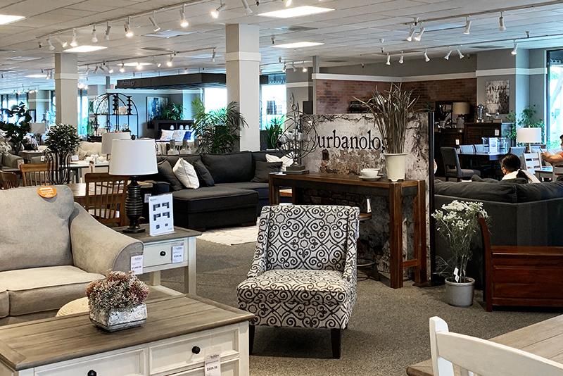 inside furniture store