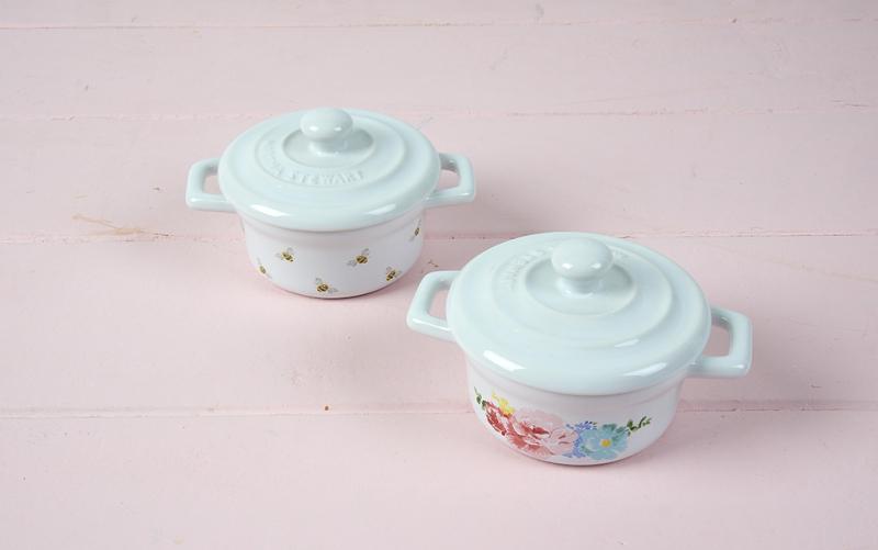 floral stoneware