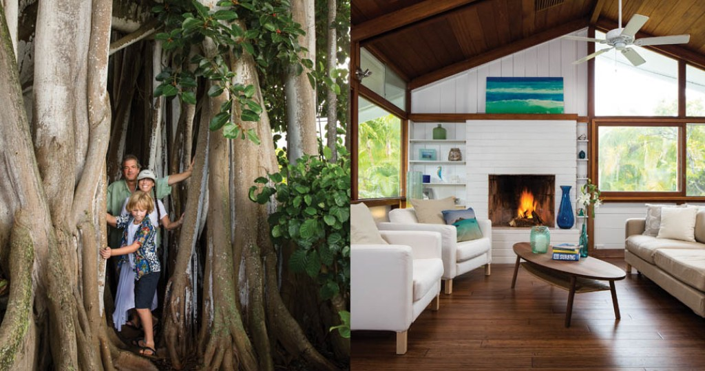 A family uncovers the rustic charm of a Kailua beach house, restoring its original character.