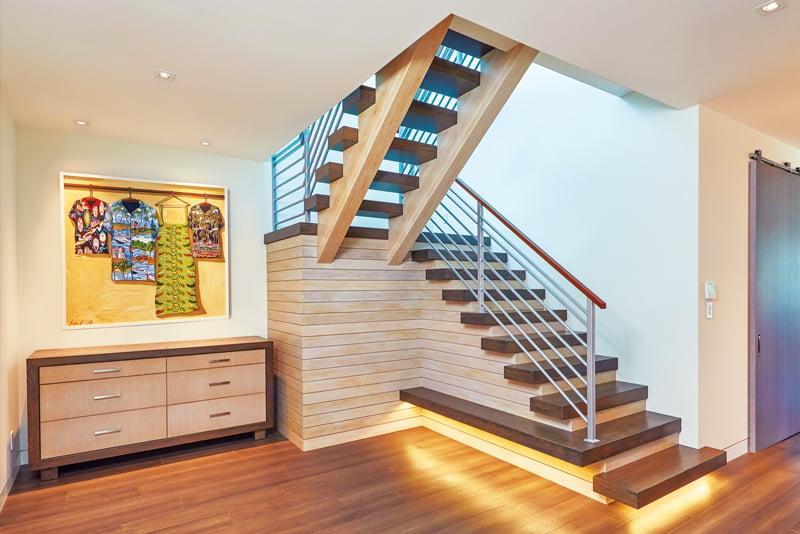 sleek modern staircase