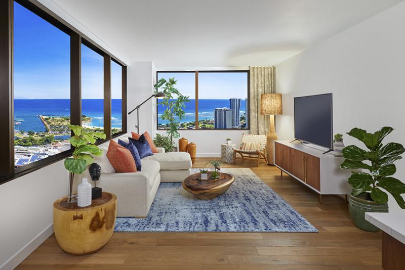 azure living room
