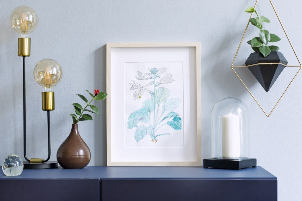 hanging art in small spaces