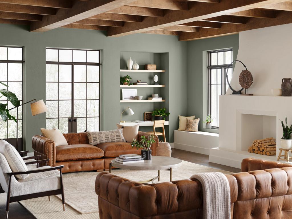 Evergreen Fog Sw 9130 Living Room