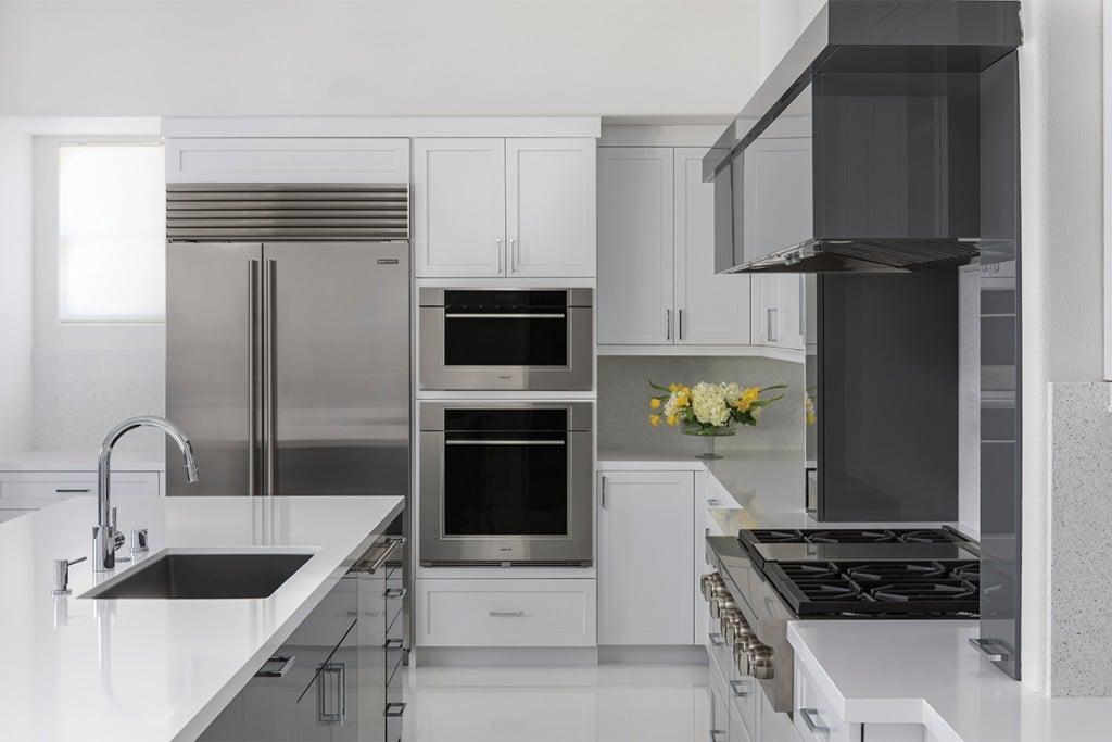 modern kitchen with smart kitchen appliances
