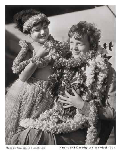 Earhart Hawaii arrival 1934