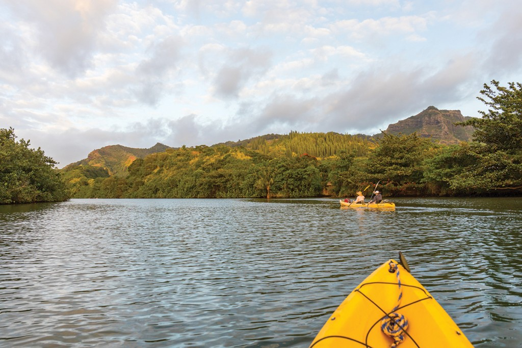 kayak on wailua river
