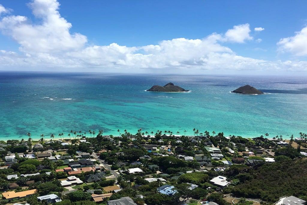 View from Lanikai Pillbox