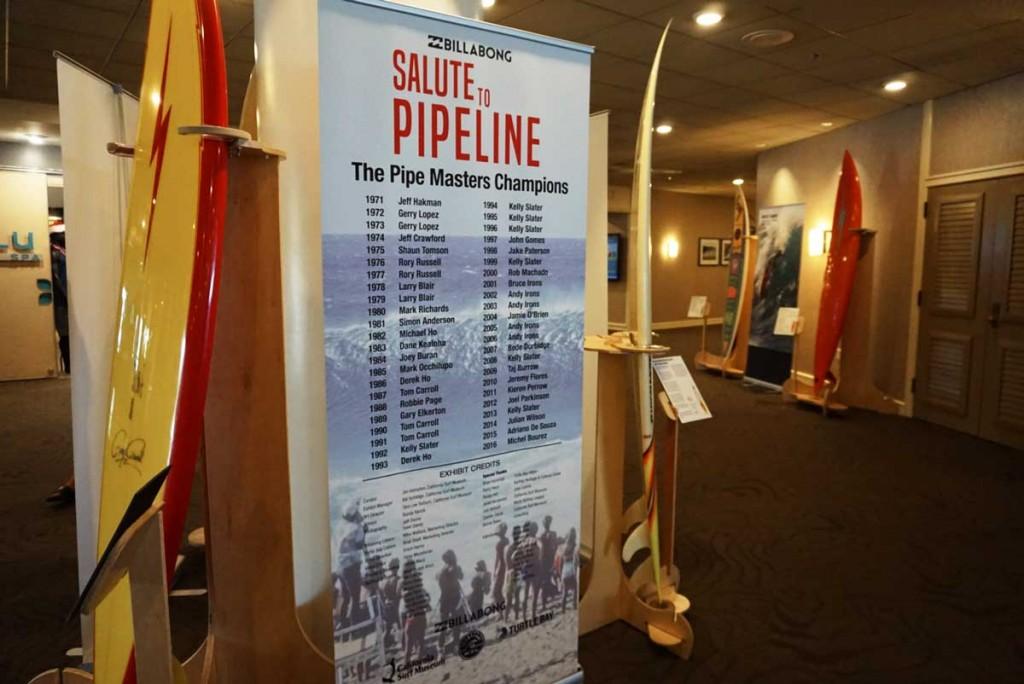 The Salute to Pipeline exhibit