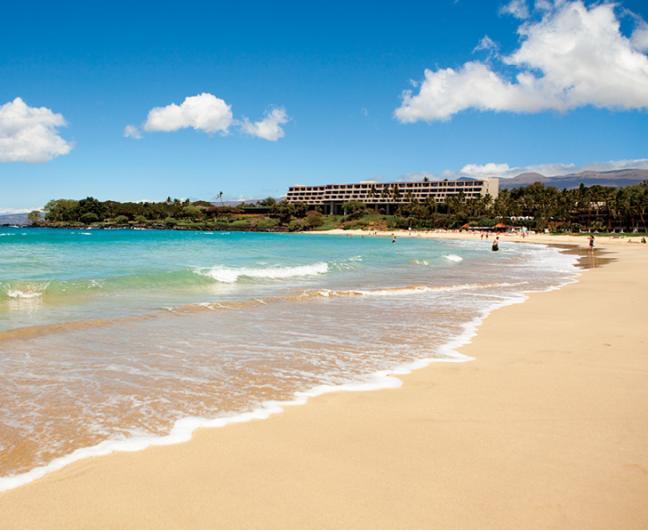 Mauna-Kea-Beach-Hotel-Exterior-From-Beach