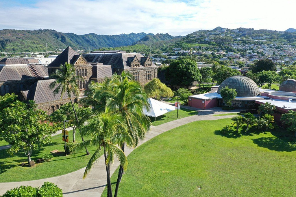 Outdoor Campus Drone_HawaiHall3