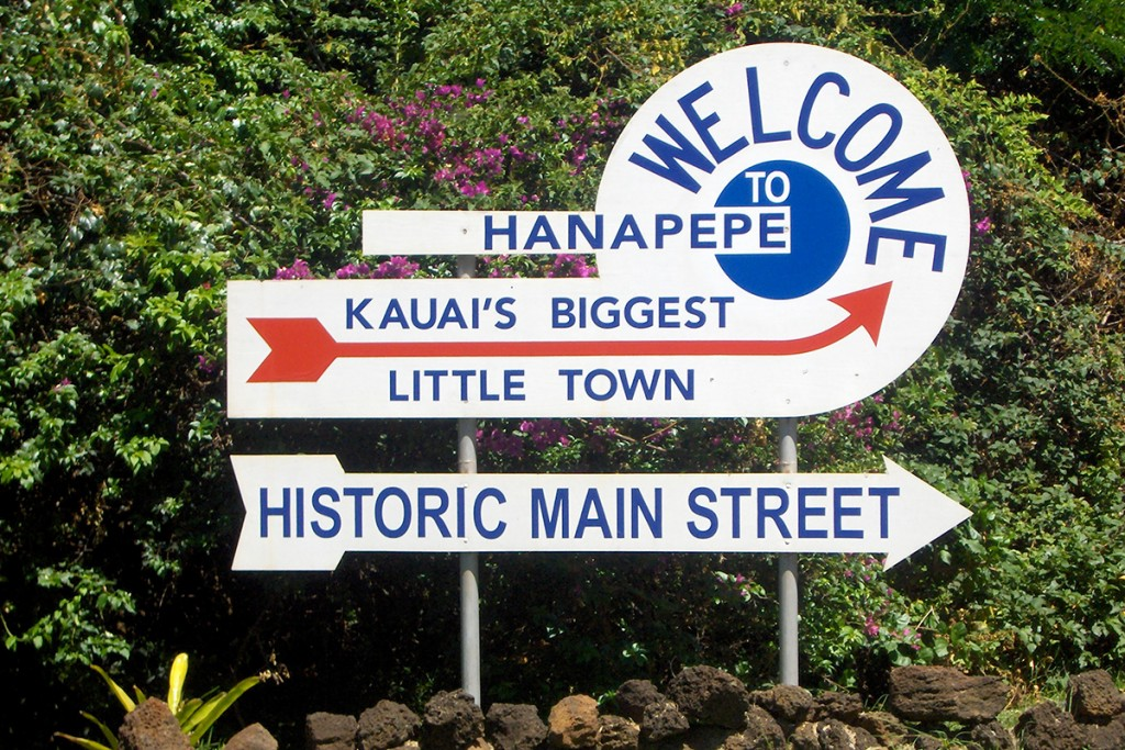 hanapepe welcome sign